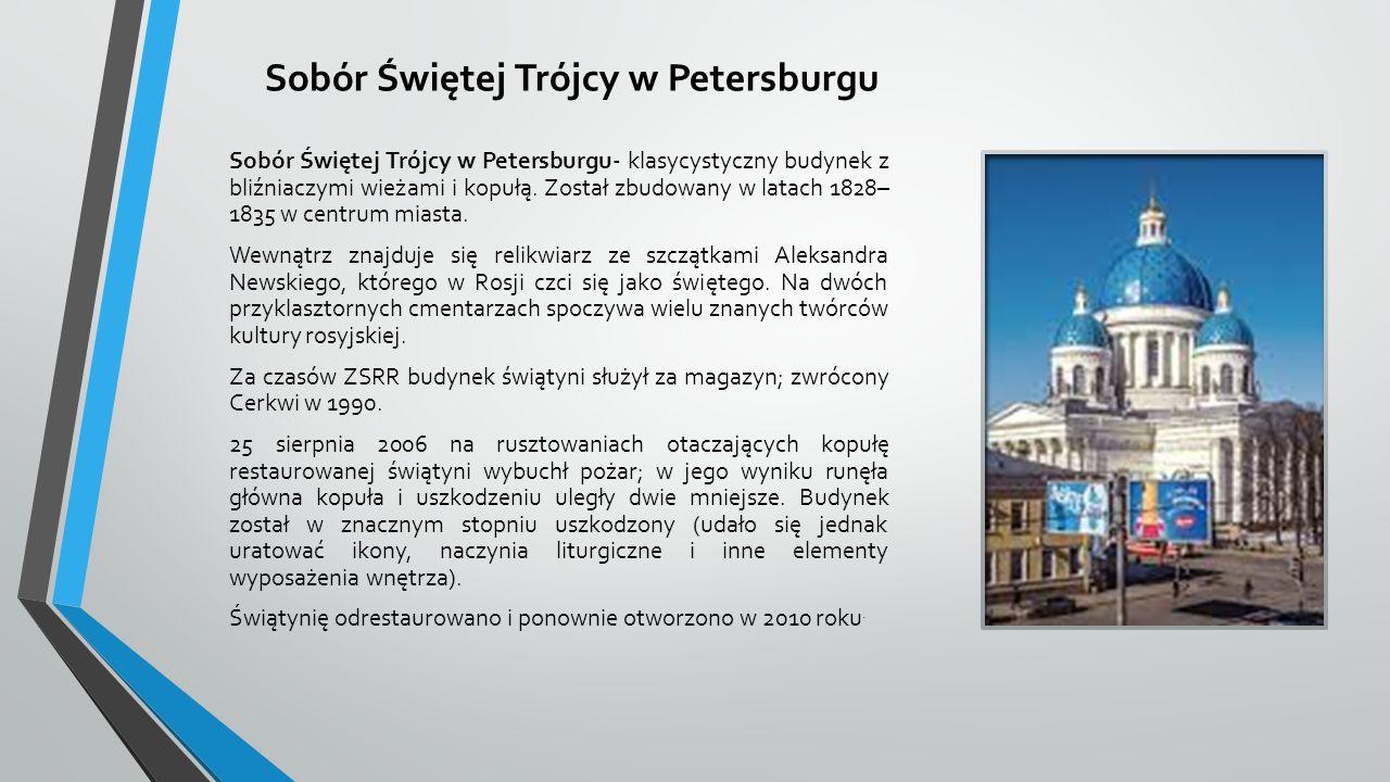 Sobór Świętej Trójcy w Petersburgu