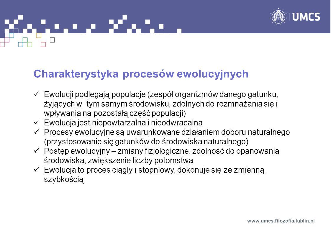 Charakterystyka procesów ewolucyjnych