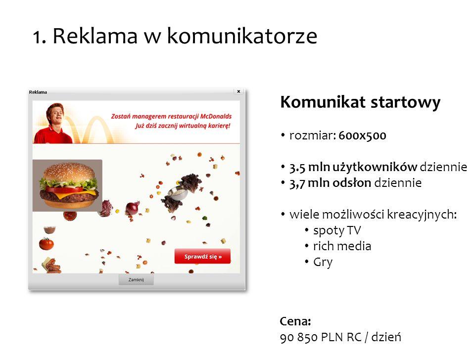 1. Reklama w komunikatorze