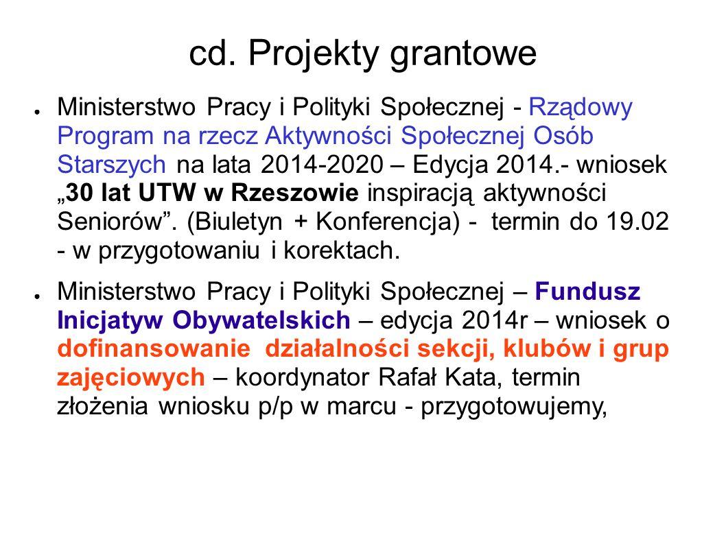 cd. Projekty grantowe
