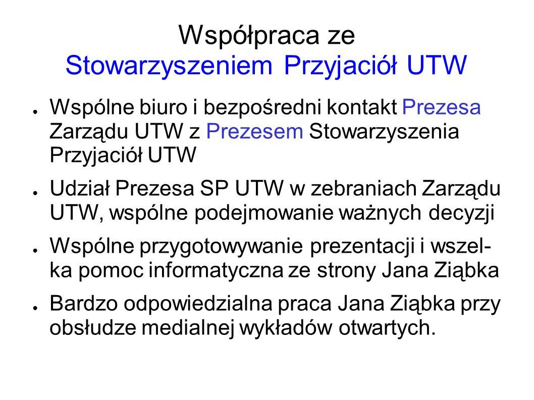 Współpraca ze Stowarzyszeniem Przyjaciół UTW