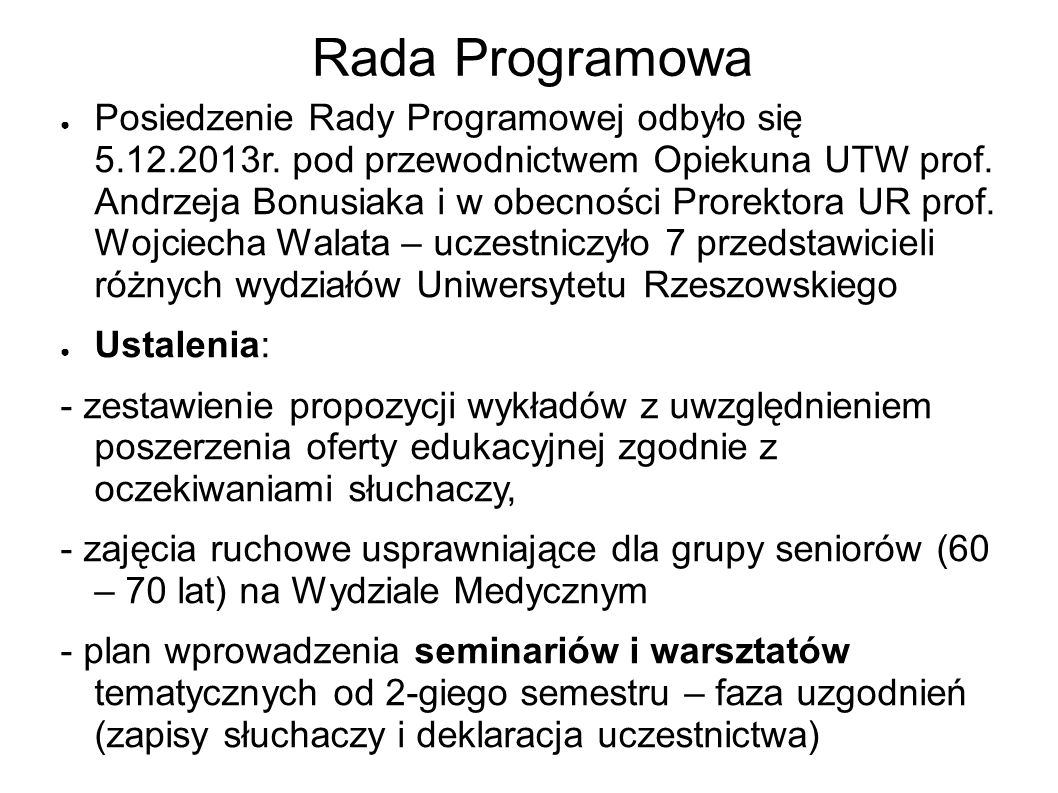 Rada Programowa