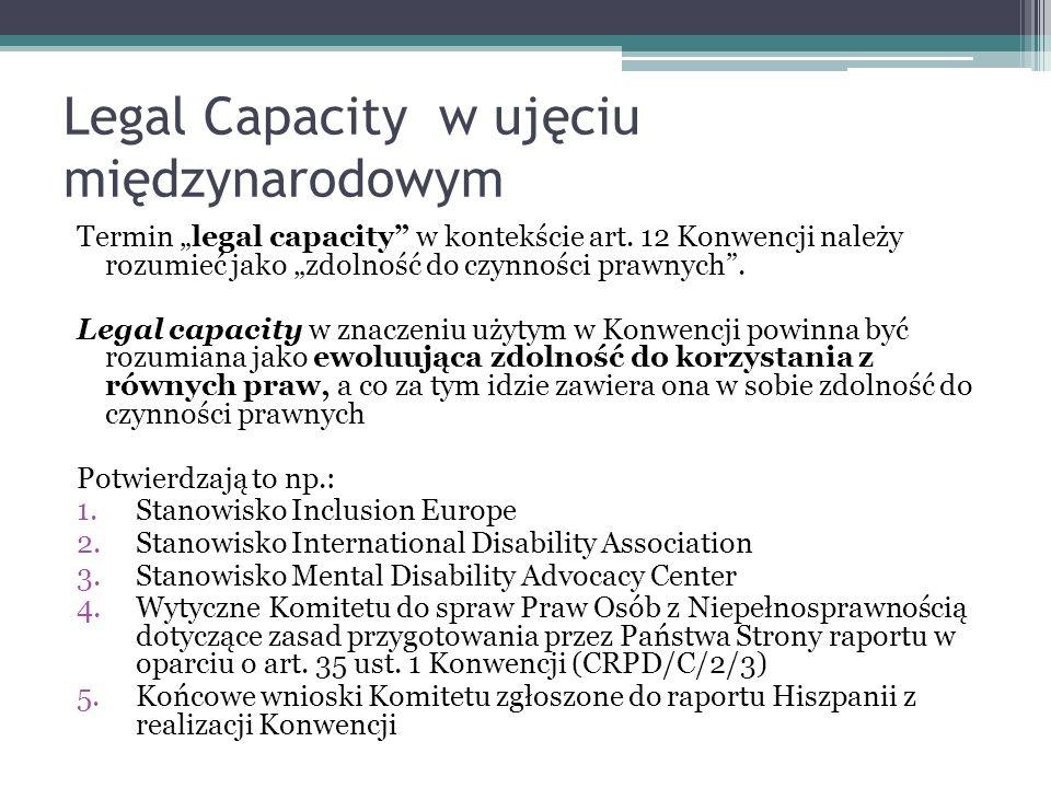 Legal Capacity w ujęciu międzynarodowym