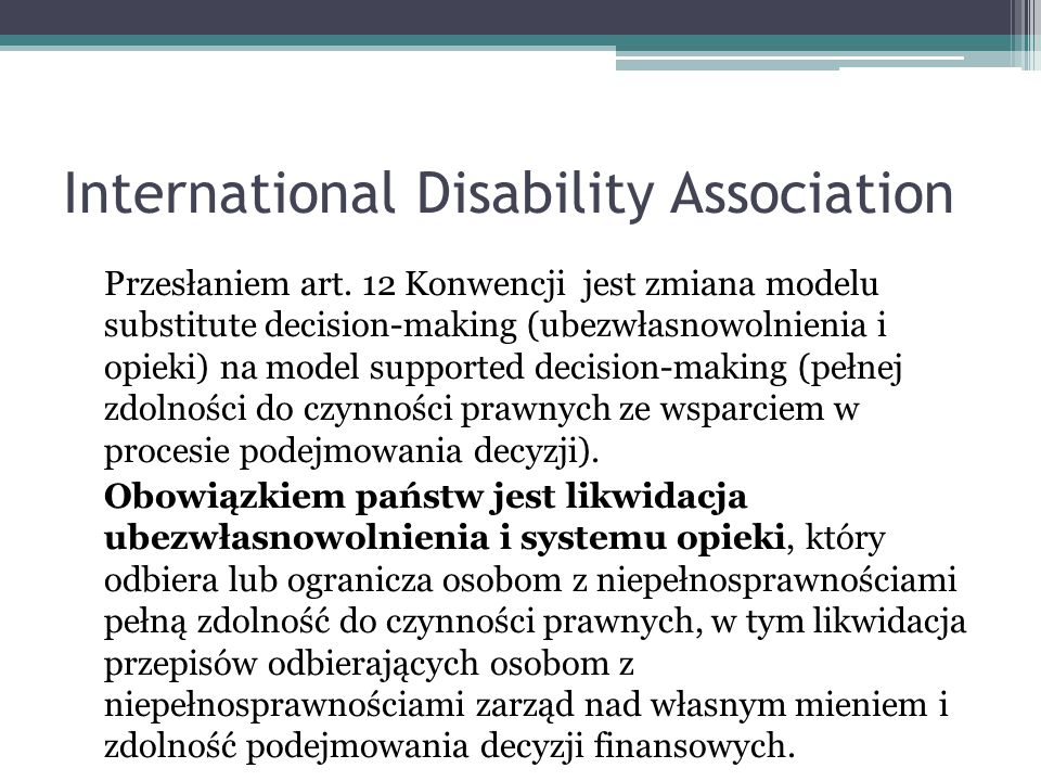 International Disability Association