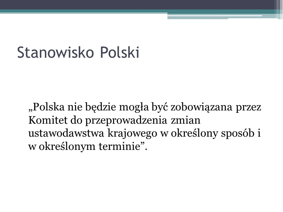 Stanowisko Polski