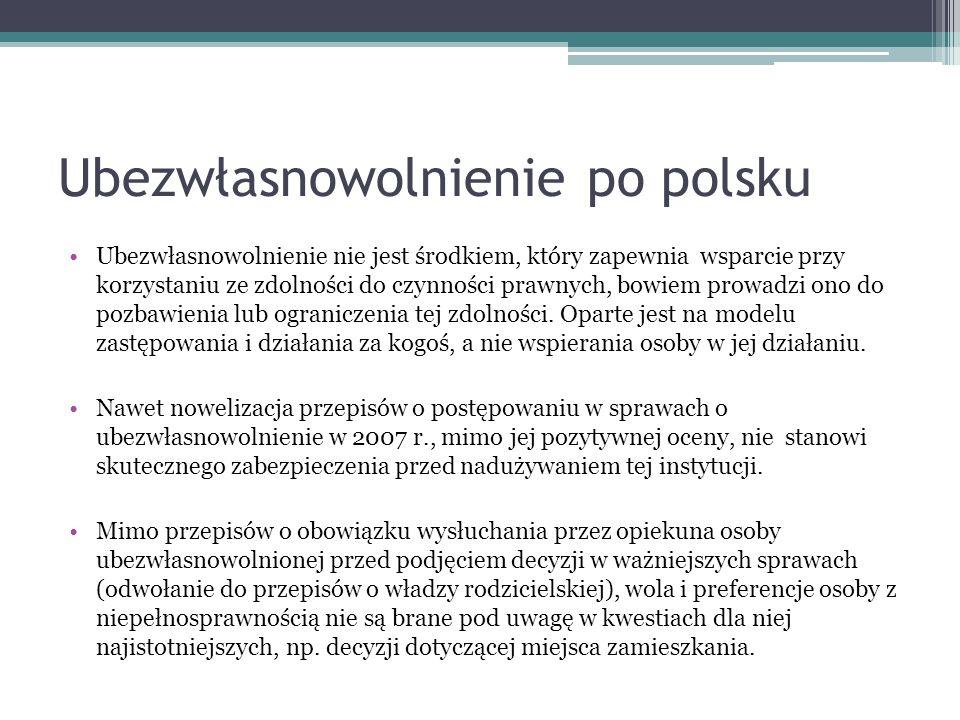 Ubezwłasnowolnienie po polsku