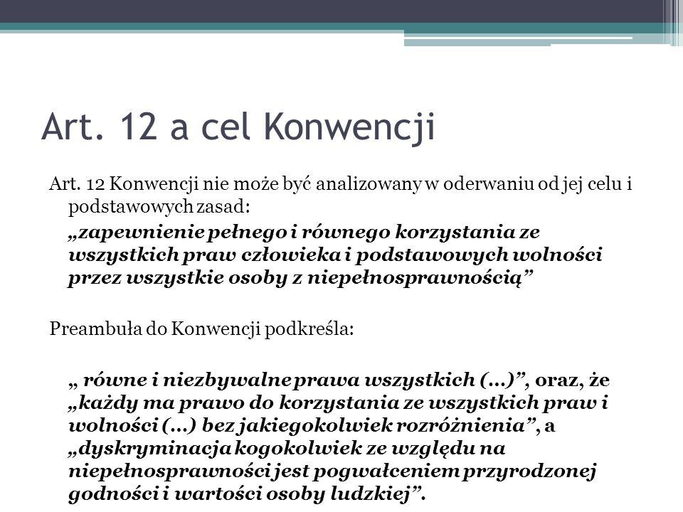 Art. 12 a cel Konwencji
