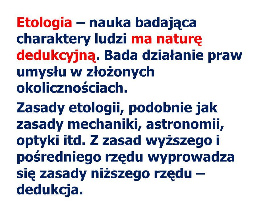Etologia – nauka badająca charaktery ludzi ma naturę dedukcyjną