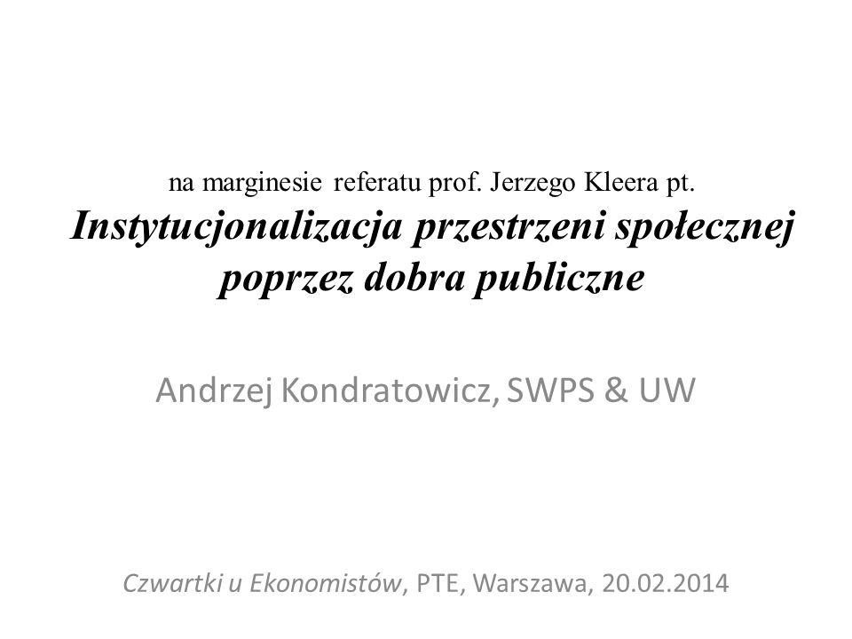 Andrzej Kondratowicz, SWPS & UW