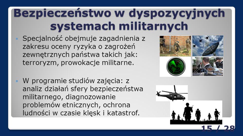 Bezpieczeństwo w dyspozycyjnych systemach militarnych