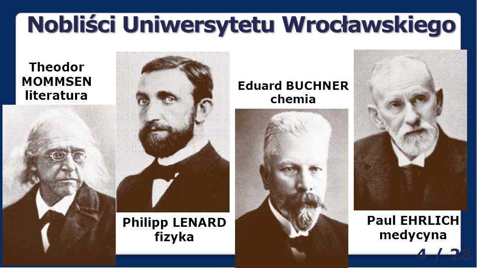 Nobliści Uniwersytetu Wrocławskiego