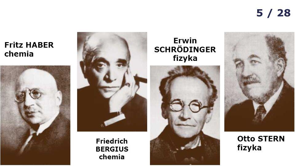 Friedrich BERGIUS chemia Erwin SCHRÖDINGER fizyka