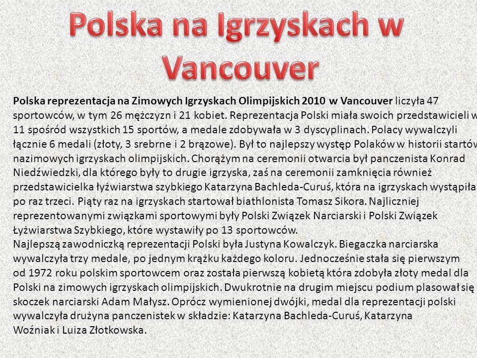 Polska na Igrzyskach w Vancouver