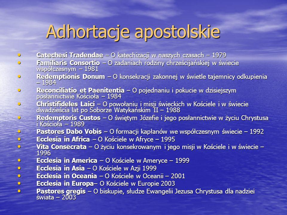 Adhortacje apostolskie