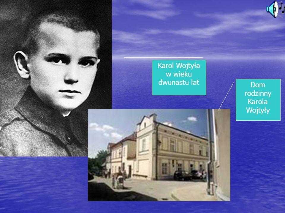 Karol Wojtyła w wieku dwunastu lat
