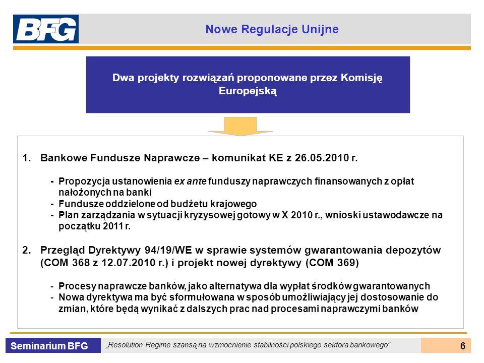 Dwa projekty rozwiązań proponowane przez Komisję Europejską