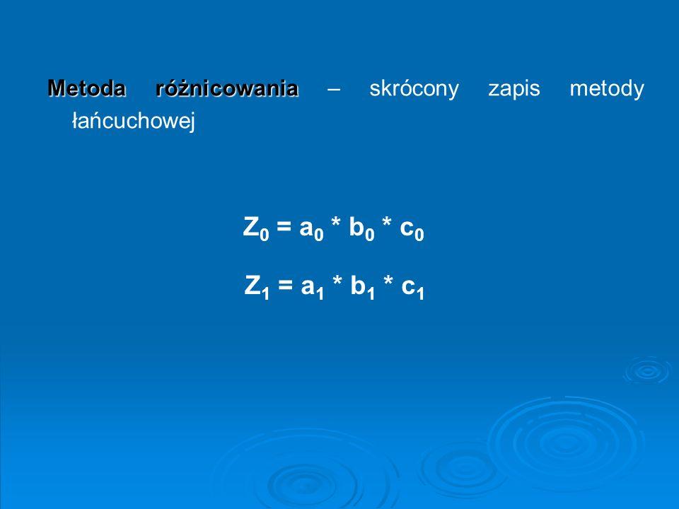 Metoda różnicowania – skrócony zapis metody łańcuchowej