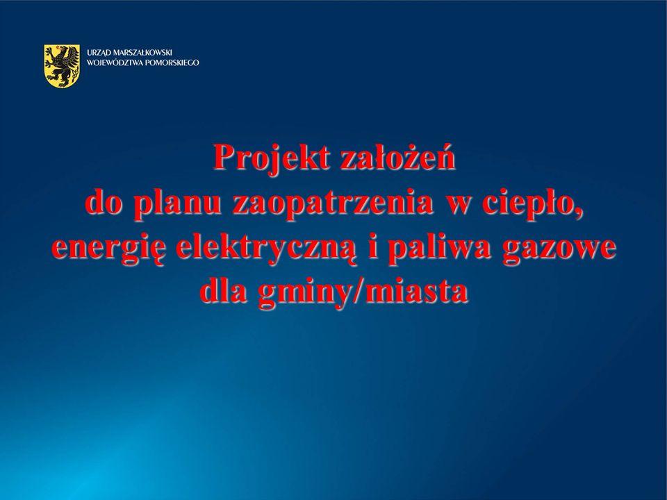 2017-03-30 Projekt założeń do planu zaopatrzenia w ciepło, energię elektryczną i paliwa gazowe dla gminy/miasta.