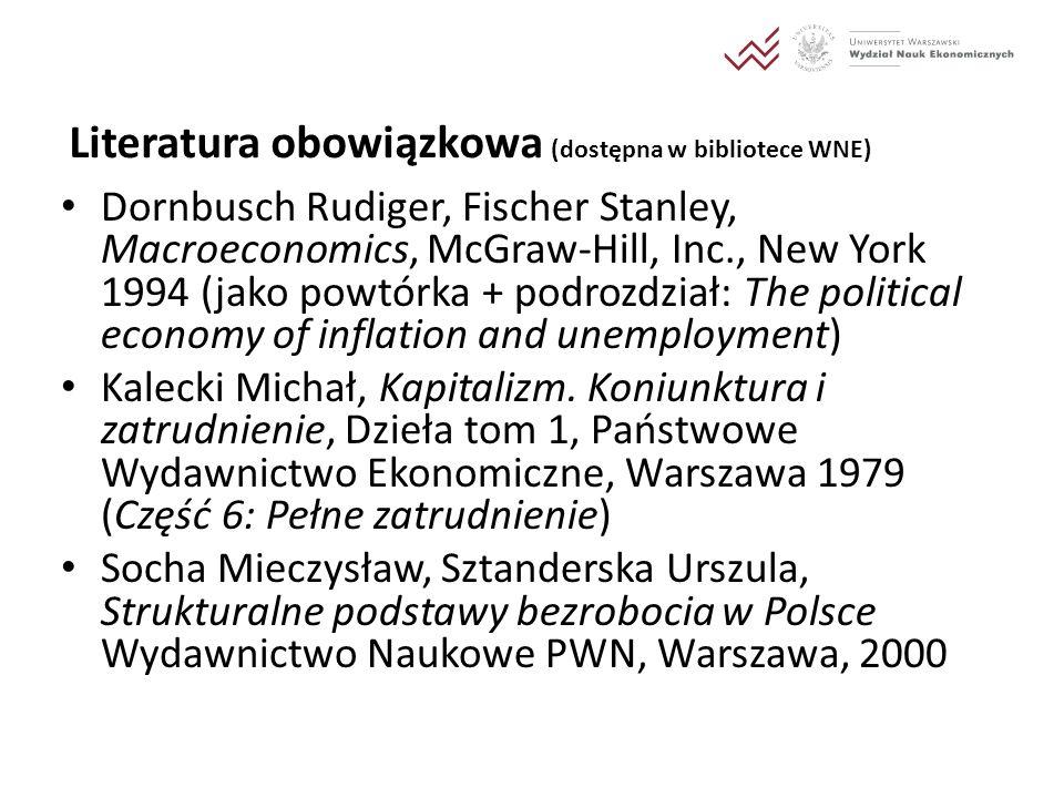 Literatura obowiązkowa (dostępna w bibliotece WNE)