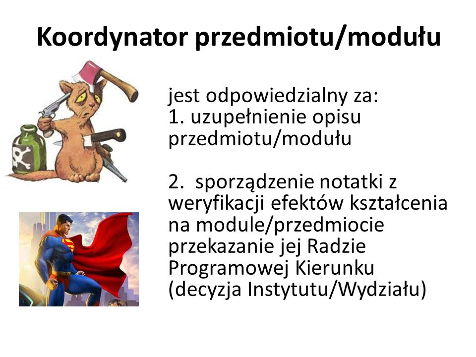 Koordynator przedmiotu/modułu