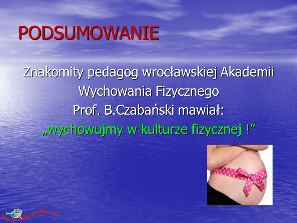 PODSUMOWANIE Znakomity pedagog wrocławskiej Akademii