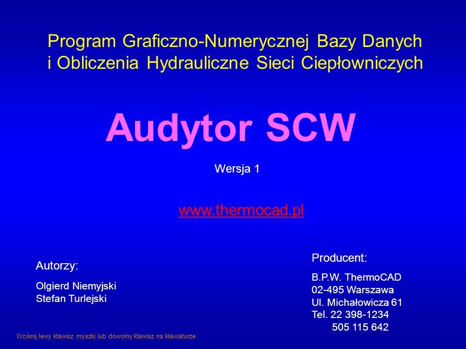 Audytor SCW Program Graficzno-Numerycznej Bazy Danych
