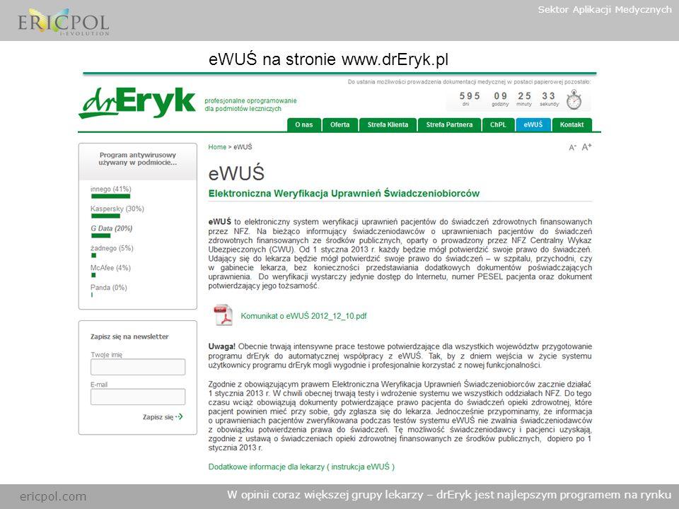 eWUŚ na stronie www.drEryk.pl