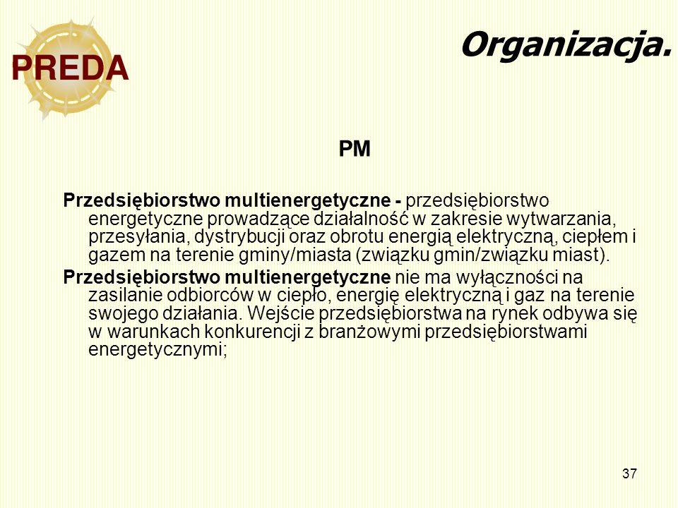 Organizacja. PM.