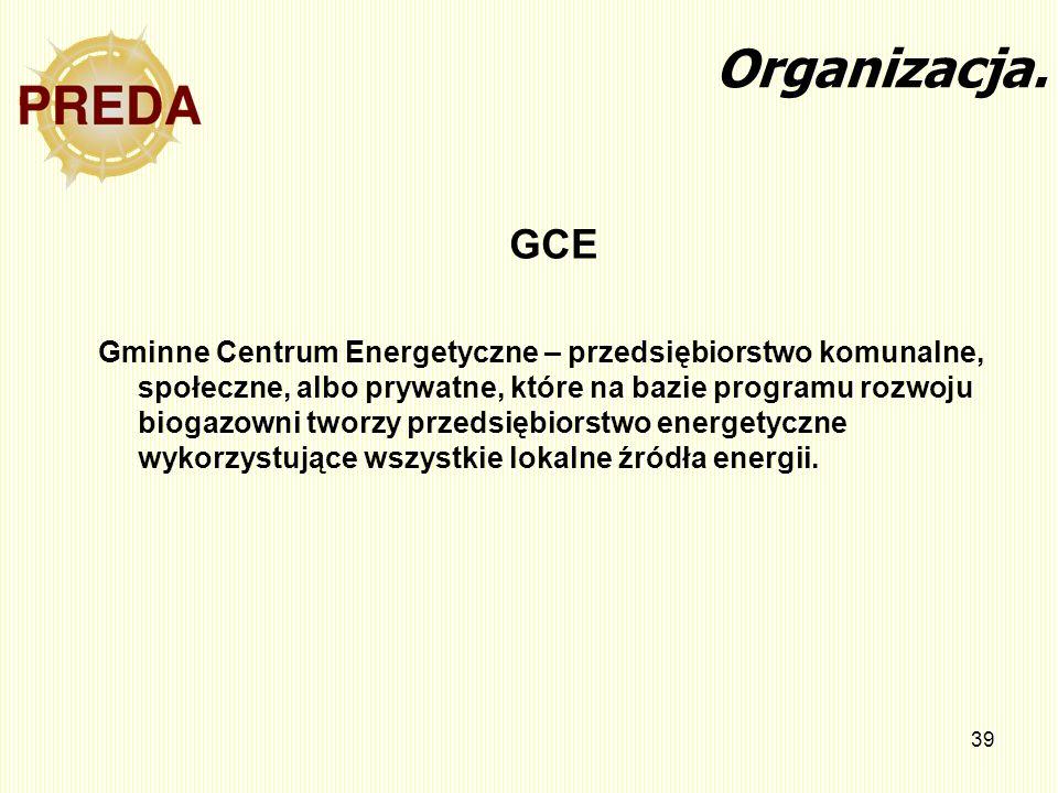 Organizacja. GCE.