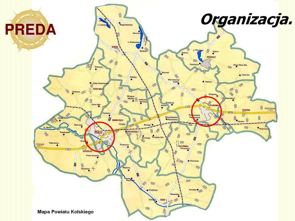 Organizacja. Gminy miejska Gminy wiejskie Gminy miejsko-wiejskie Koło
