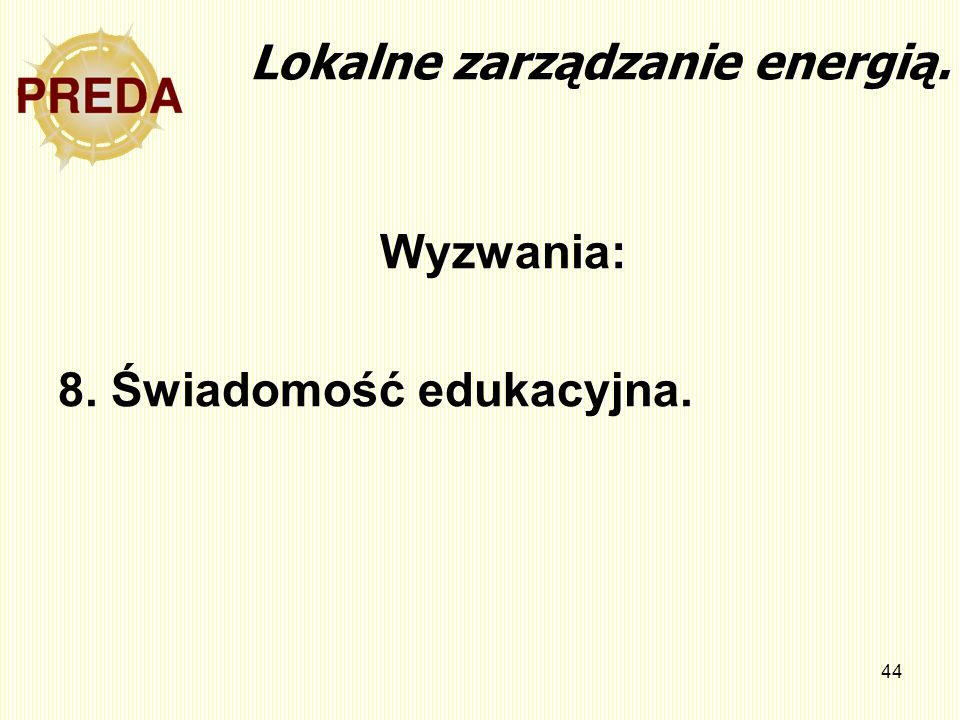 Lokalne zarządzanie energią.