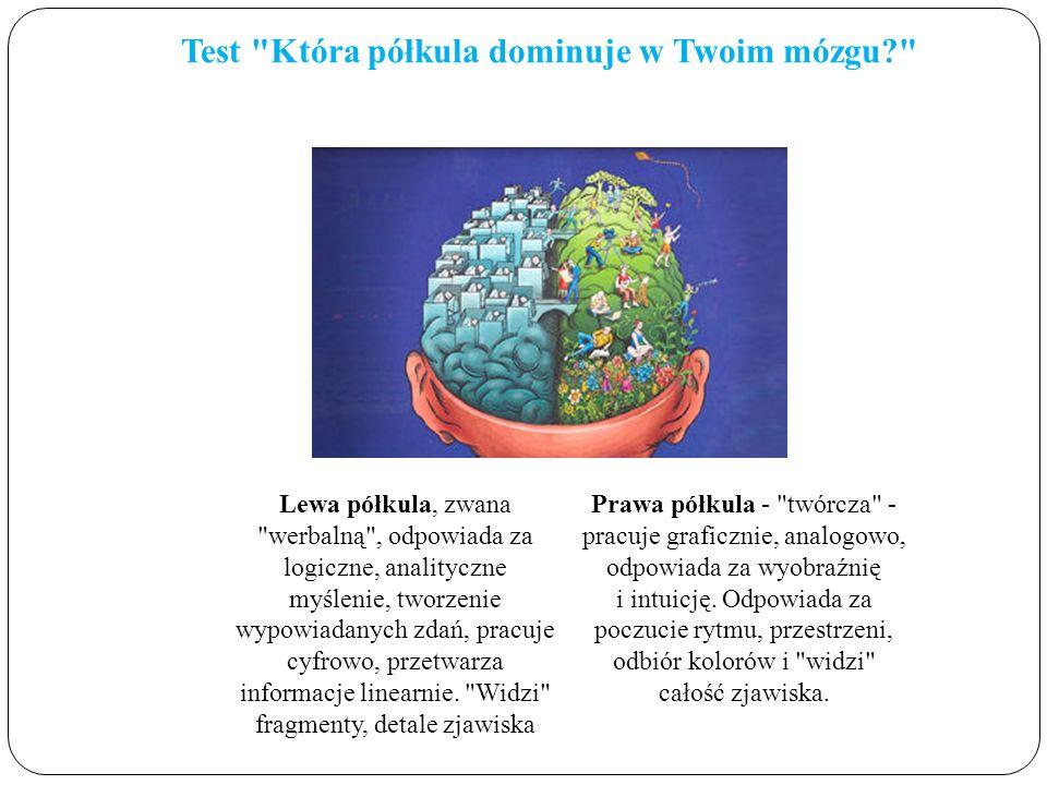 Test Która półkula dominuje w Twoim mózgu