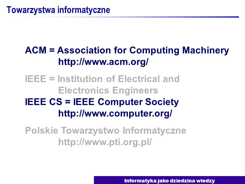 Towarzystwa informatyczne