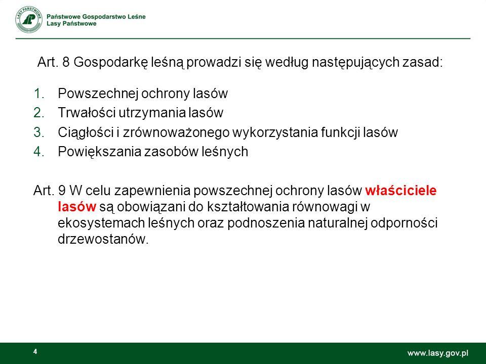 Art. 8 Gospodarkę leśną prowadzi się według następujących zasad: