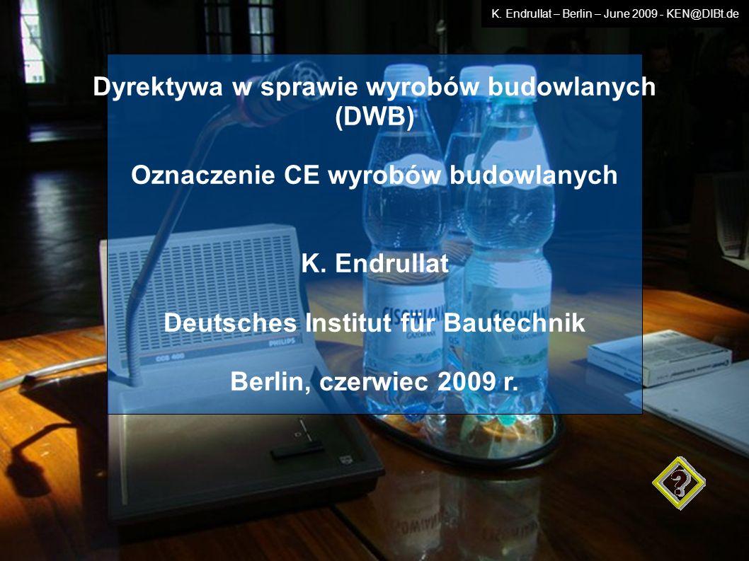 Dyrektywa w sprawie wyrobów budowlanych (DWB)