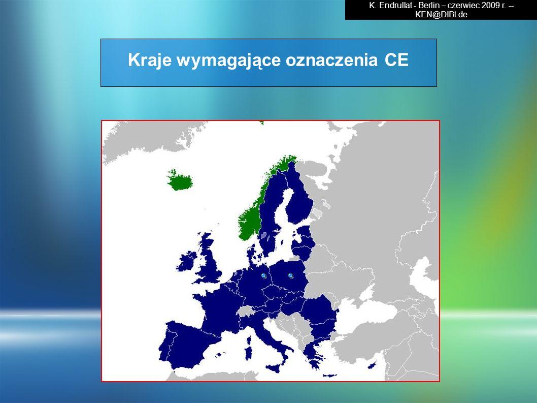 Kraje wymagające oznaczenia CE