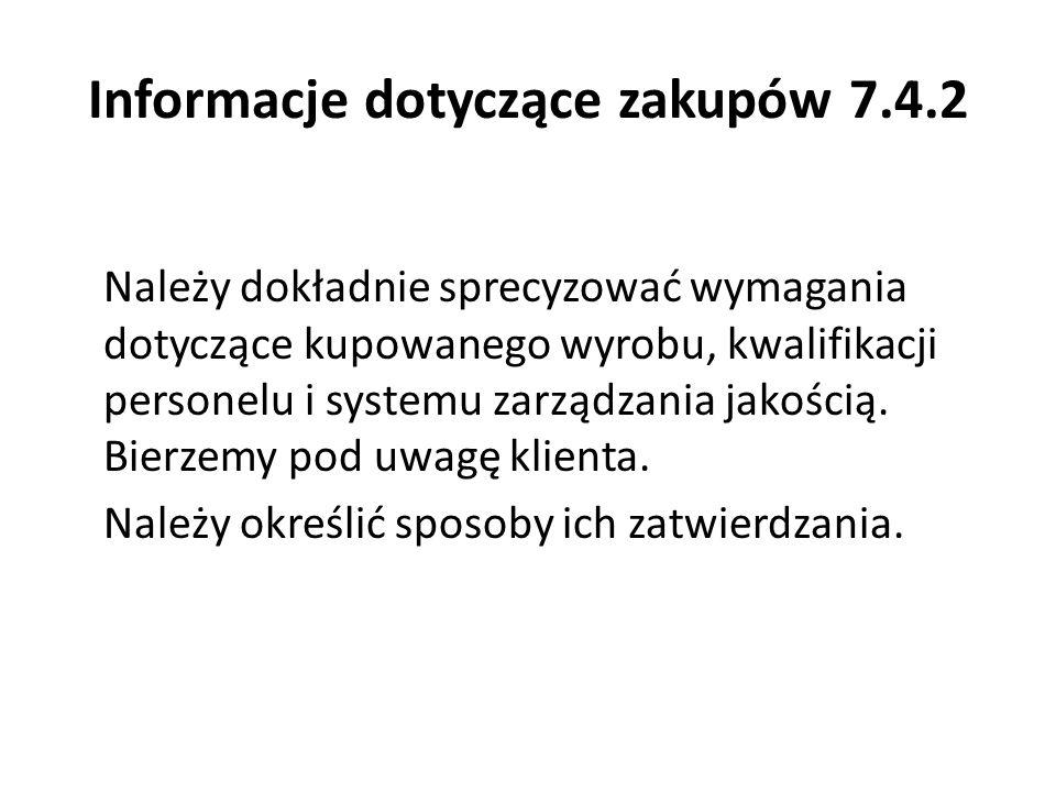 Informacje dotyczące zakupów 7.4.2