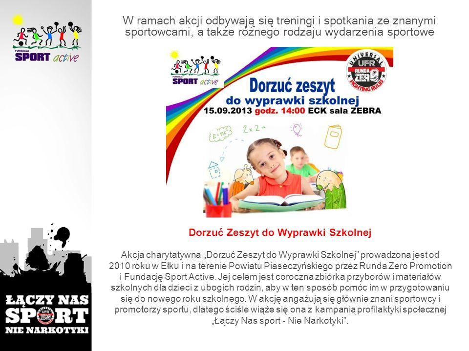 """""""Łączy Nas sport - Nie Narkotyki ."""
