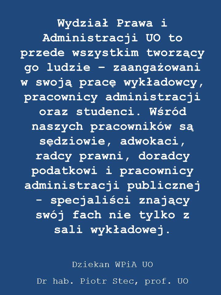Dr hab. Piotr Stec, prof. UO