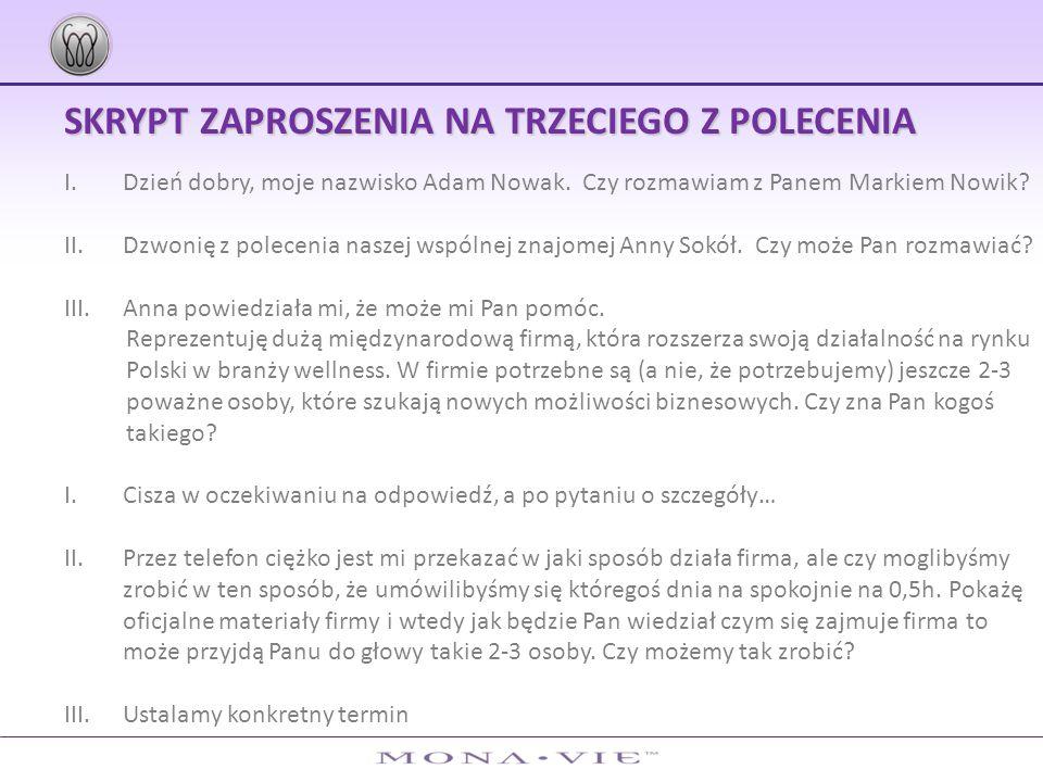 SKRYPT ZAPROSZENIA NA TRZECIEGO Z POLECENIA