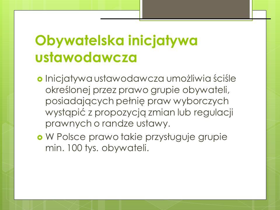 Obywatelska inicjatywa ustawodawcza