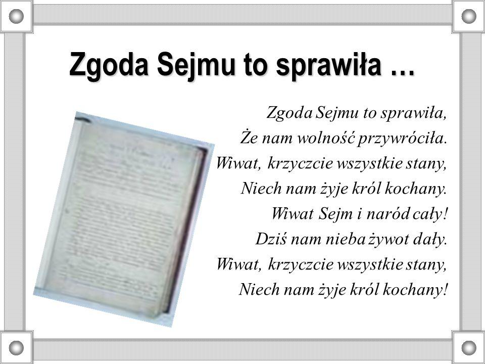 Zgoda Sejmu to sprawiła …