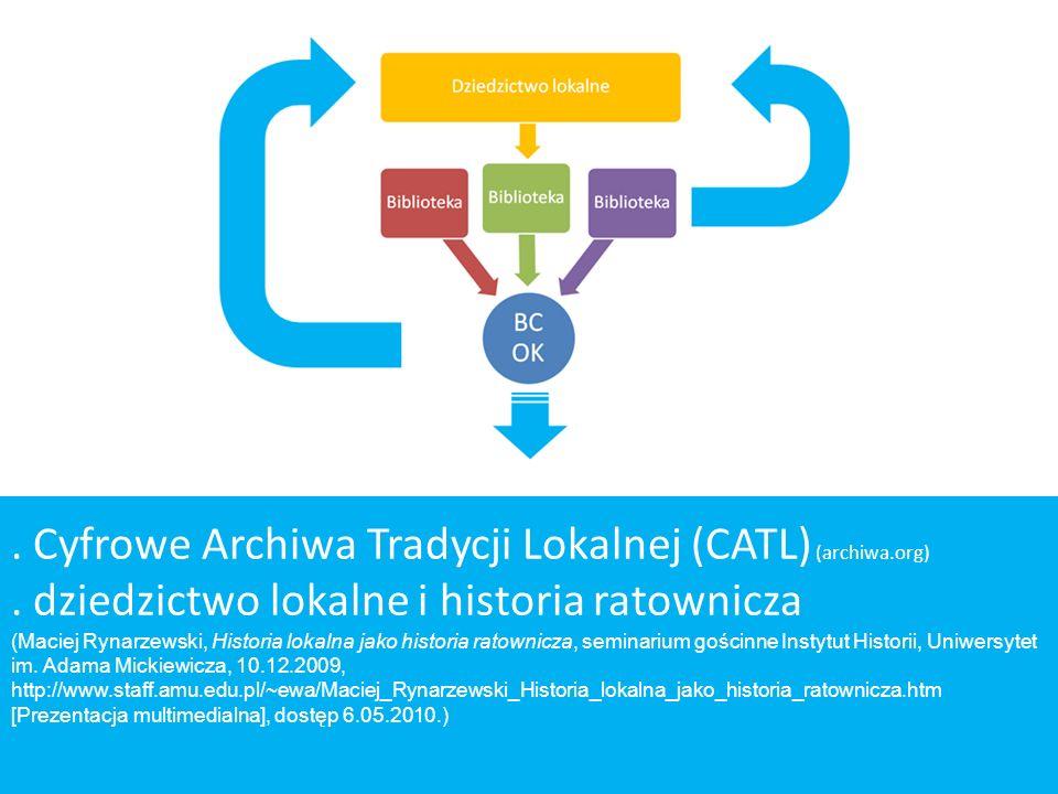 . Cyfrowe Archiwa Tradycji Lokalnej (CATL) (archiwa.org)