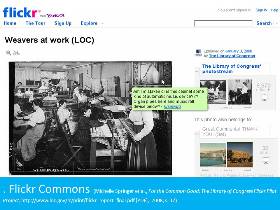 Flickr Commons (Michelle Springer et al