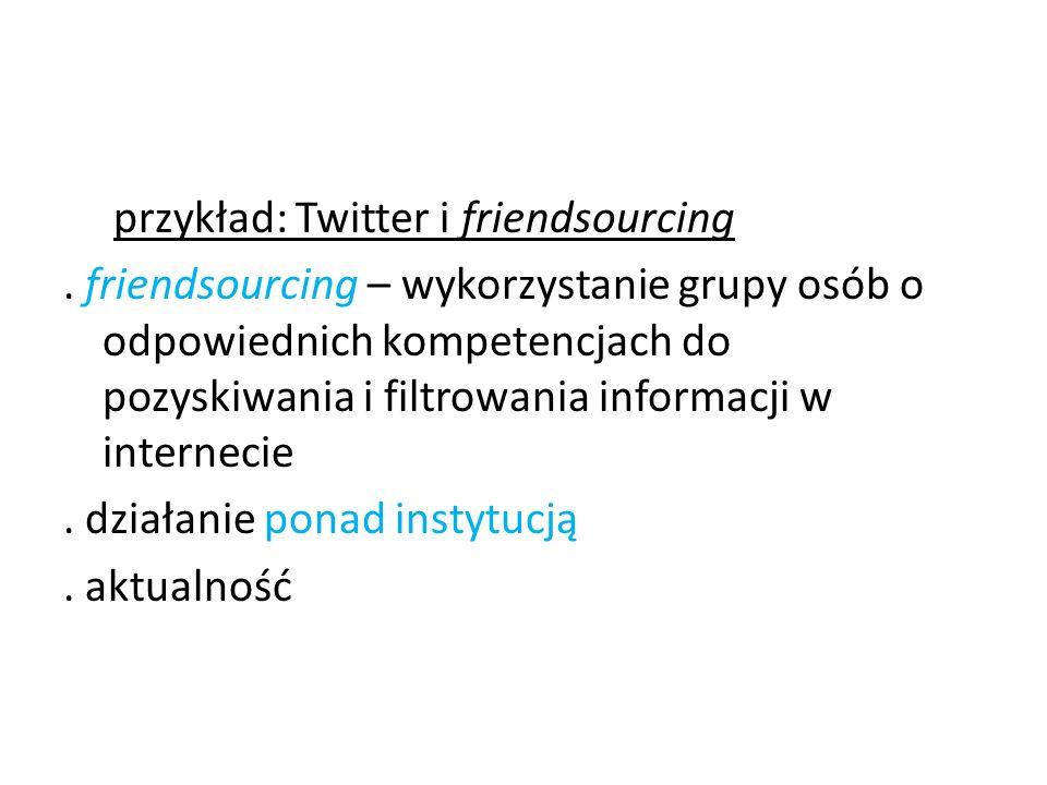 przykład: Twitter i friendsourcing