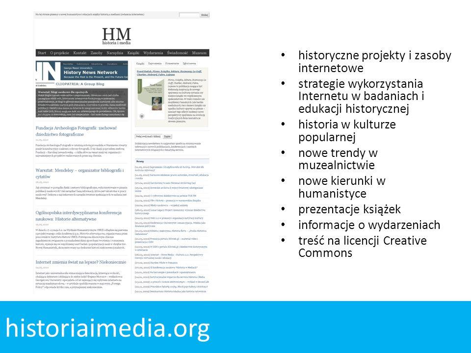 historiaimedia.org historyczne projekty i zasoby internetowe