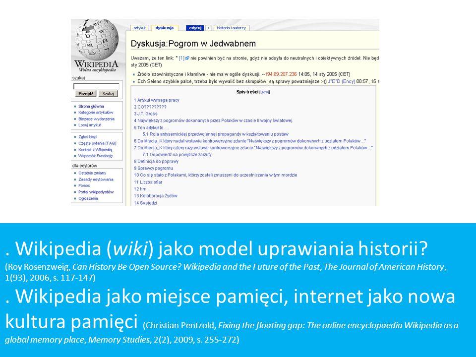 Wikipedia (wiki) jako model uprawiania historii