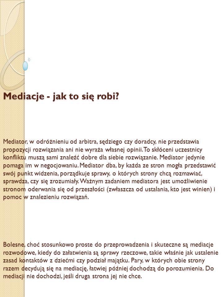 Mediacje - jak to się robi