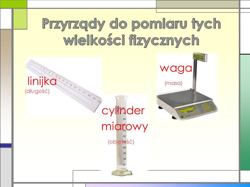 Przyrządy do pomiaru tych wielkości fizycznych