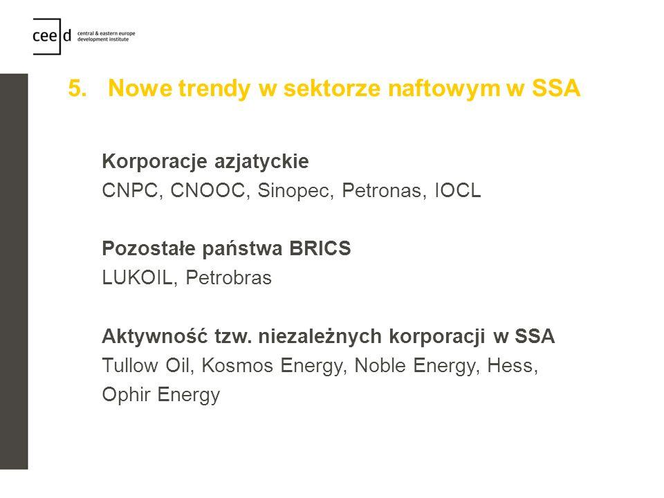 5. Nowe trendy w sektorze naftowym w SSA